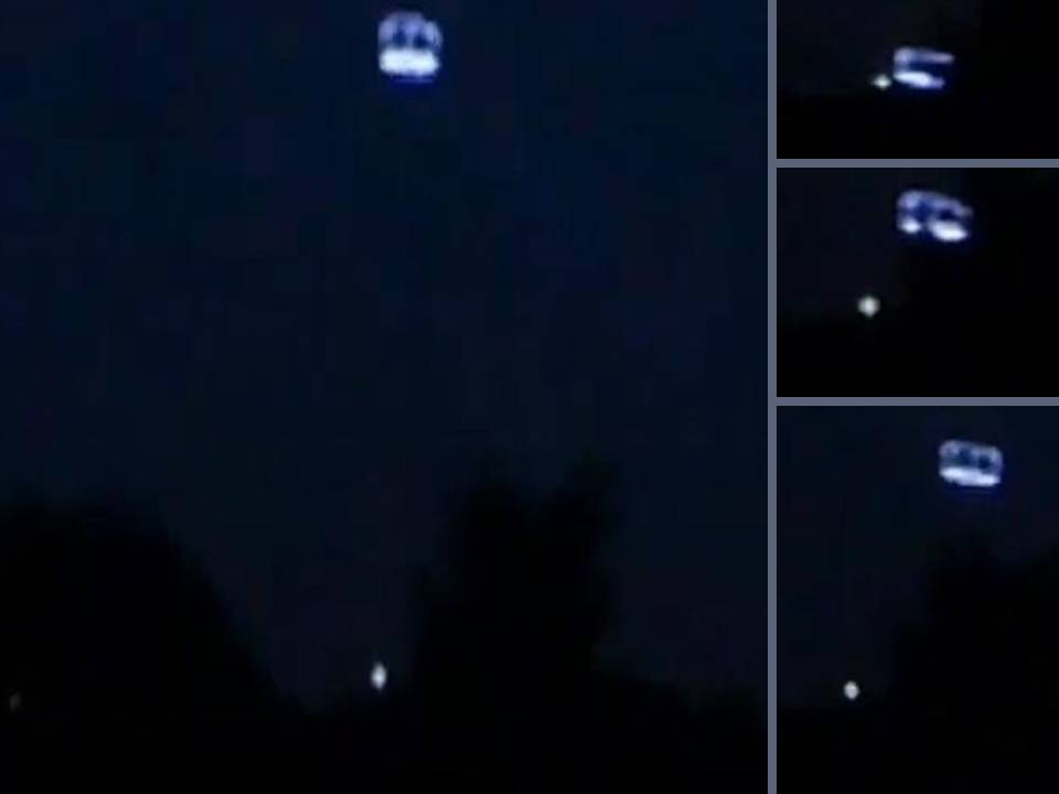 Note movement of small object beneath main ufo